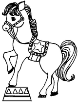 Imprimer le coloriage : Cheval, numéro 16967