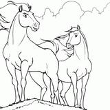 Imprimer le coloriage : Cheval, numéro 596