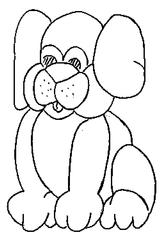 Imprimer le coloriage : Chien, numéro 128179