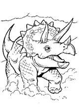 Imprimer le coloriage : Dinosaures, numéro 195704