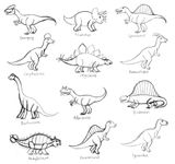 Imprimer le coloriage : Dinosaures, numéro 209533