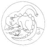 Imprimer le coloriage : Dinosaures, numéro 209553