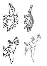 Imprimer le coloriage : Dinosaures, numéro 218281