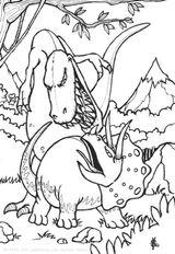 Imprimer le coloriage : Dinosaures, numéro 226672