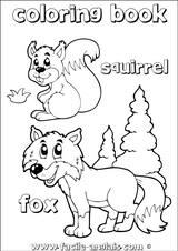 Imprimer le coloriage : Ecureuil, numéro 1abab54