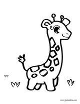 Imprimer le coloriage : Girafe, numéro 1ff852d3