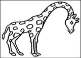 Imprimer le coloriage : Girafe, numéro 226b8c22