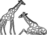 Imprimer le coloriage : Girafe, numéro 2818809a