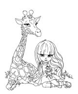 Imprimer le coloriage : Girafe, numéro 3e6e60a4