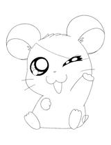 Imprimer le coloriage : Hamster, numéro 17115