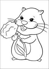 Imprimer le coloriage : Hamster, numéro 62097