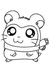 Imprimer le coloriage : Hamster, numéro 7178