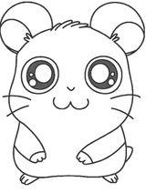 Imprimer le coloriage : Hamster, numéro 755164