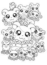 Imprimer le coloriage : Hamster, numéro ef3e37b1