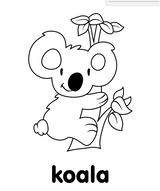 Imprimer le coloriage : Koala, numéro 19732baf