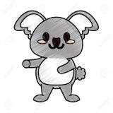 Imprimer le coloriage : Koala, numéro 1a613914