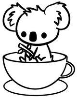 Imprimer le coloriage : Koala, numéro 1d1b10b6