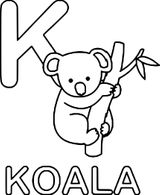 Imprimer le coloriage : Koala, numéro 1da5b8e1