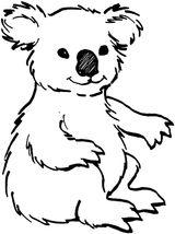 Imprimer le coloriage : Koala, numéro 2300e6a1