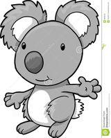 Imprimer le coloriage : Koala, numéro 2995f807