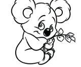 Imprimer le coloriage : Koala, numéro 3107ee3c
