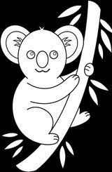 Imprimer le coloriage : Koala, numéro 3231a9ed