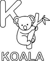 Imprimer le coloriage : Koala, numéro 38d47fe7
