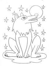 Imprimer le coloriage : Loup, numéro 128432