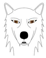 Imprimer le coloriage : Loup, numéro 4011