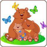Imprimer le dessin en couleurs : Ours, numéro 352168