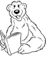 Imprimer le coloriage : Ours, numéro 3661