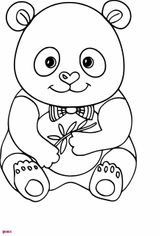 Coloriage Panda Kawaii A Imprimer Gratuit