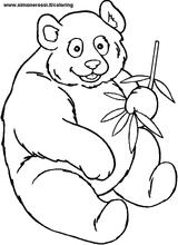 Imprimer le coloriage : Panda, numéro 104574