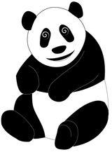 Imprimer le coloriage : Panda, numéro 104577
