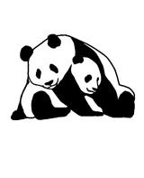 Imprimer le coloriage : Panda, numéro 106540