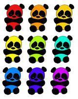 Imprimer le dessin en couleurs : Panda, numéro 108800