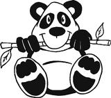 Imprimer le coloriage : Panda, numéro 125367