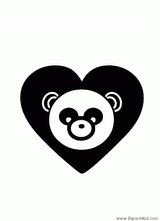 Imprimer le coloriage : Panda, numéro 125375