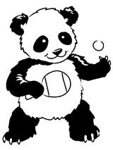 Imprimer le coloriage : Panda, numéro 452419