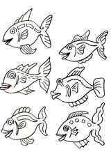 Imprimer le dessin en couleurs : Poisson, numéro 117326