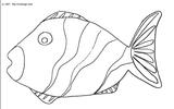 Imprimer le coloriage : Poisson, numéro 128369