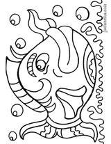 Imprimer le coloriage : Poisson, numéro 161083