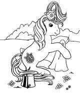 Imprimer le coloriage : Poney, numéro 128857