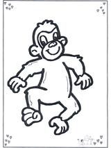 Imprimer le dessin en couleurs : Singe, numéro 108754
