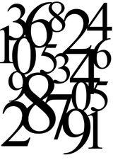 Imprimer le coloriage : Chiffres et formes, numéro 1544