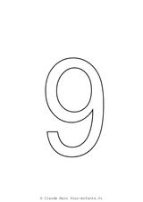 Imprimer le coloriage : Chiffres et formes, numéro 17743