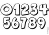 Imprimer le coloriage : Chiffres et formes, numéro 18086