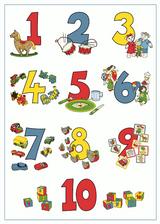 Imprimer le dessin en couleurs : Chiffres et formes, numéro 18631