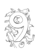 Imprimer le coloriage : Chiffres et formes, numéro 29026