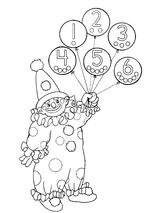 Imprimer le coloriage : Chiffres et formes, numéro 32bf2e49